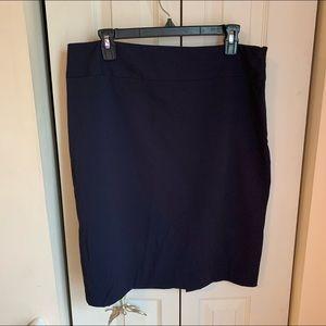 Liz Claiborne Size 14 Navy Pencil Skirt